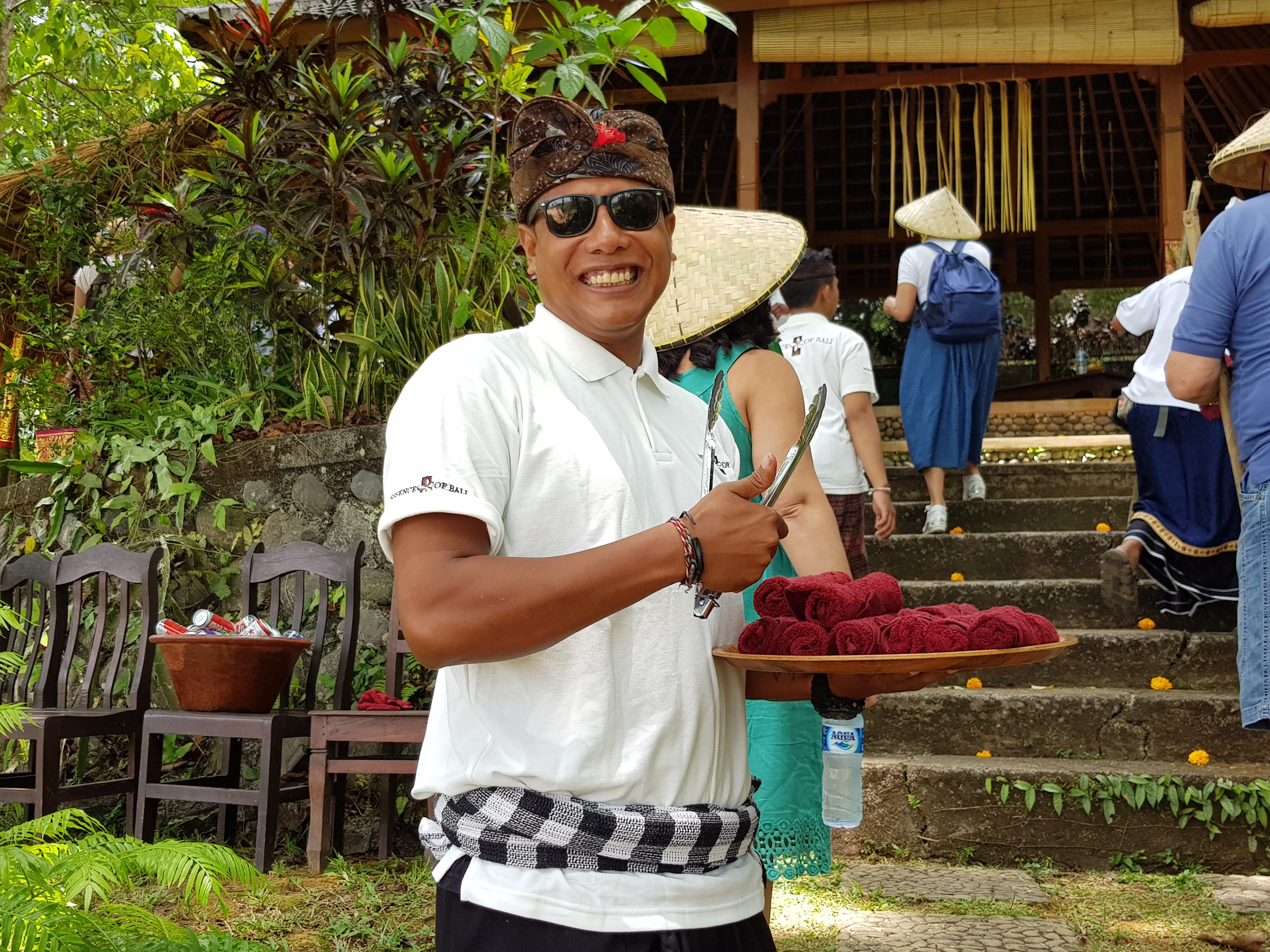 Balinese welcome in rice fields By Essence of Bali dmc